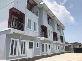 BRAND NEW ICONIC 3 UNITS OF 4 BEDROOM TERRACE WITH A ROOM BQ.