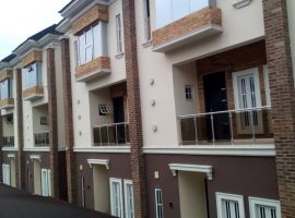 Four (4)bedroom fully finished terrace with one room Bq